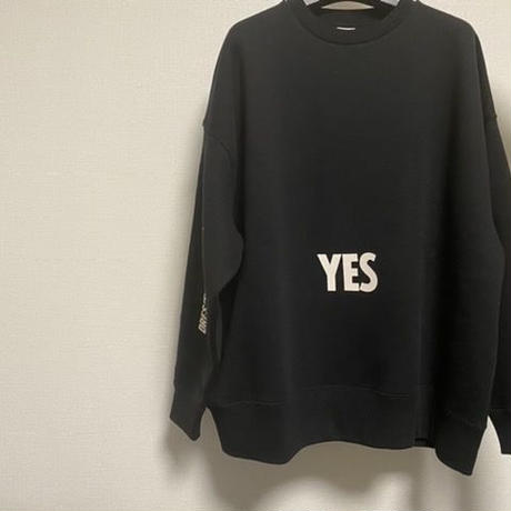 "DSS2 DRES""SPECIAL""SSEN  SWEAT  SHIRTS  YES/NO THANKYOU(BLACK COLOR)   生成りロゴ"