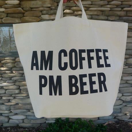 """DRESSSENTOTE BAG  DTB4 """"AM COFFEE PM BEER"""""""