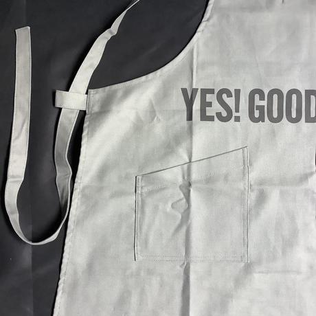 """オンライン限定販売 DRESSSEN  XA30 X–STYLE APRON """" YES!GOODJOB!""""(GREY  COLOR)※背中でクロスさせて着用いただくエプロンです。"""