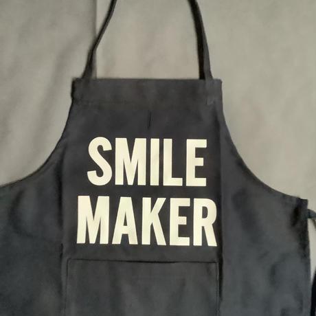 "👶DRESSSEN BKDN3 BABY KIDS APRON ""SMILE MAKER""(ベイビーキッズエプロンです。)  ※ダークネイビー"