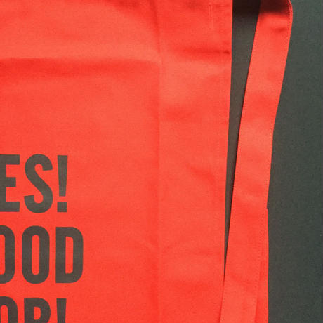 "DRESSSEN  lower wall long LWLB2"" YES! GOOD JOB!"" APRON RED  COLOR"