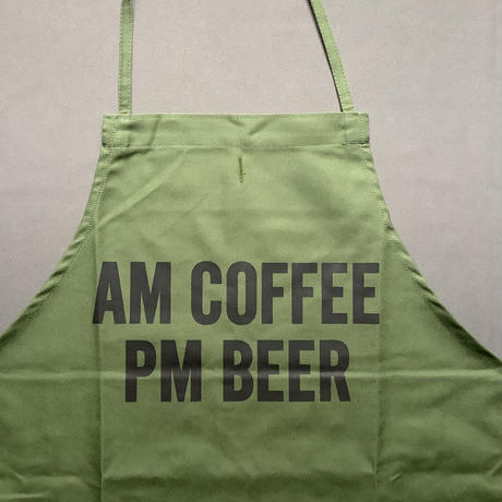 """⭐️[新発売]DRESSSEN DR(GRN)7 """"AM COFFEE PM BEER"""" """"APRON  GREEN COLOR"""