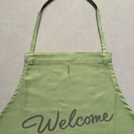 """⭐️[新発売]DRESSSEN DR(GRN)6 """"welcome""""APRON GREEN COLOR"""