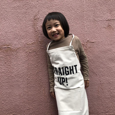 "👦👧DRESSSEN KD11 KIDS APRON  ""STRAIGHT UP""(※キッズエプロンです)"
