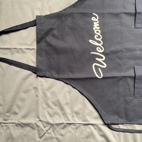 "[限定販売]DRESSSEN   WPADN4 DAY USE W POCKET  APRON   ""welcome"" DARK NAVY COLOR⭐️再入荷しました。"