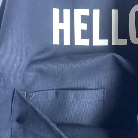 "DRESSSEN  DRVNY2 REVERSIBLE  APRON""HELLO/GOODBYE(リバーシブルエプロン)"