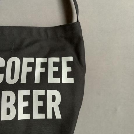 "DRESSSEN NDB2 NEW DB SHOULDER BAG  "" AM COFFEE PM BEER""  BLACK COLOR"