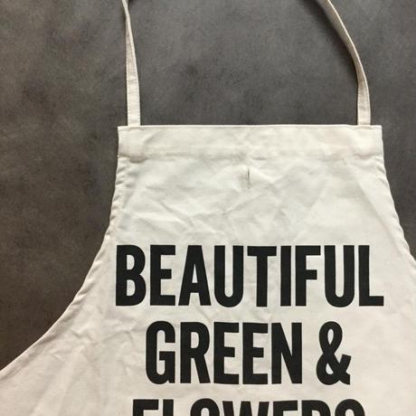 DRESSSEN ADULT APRON #48 BEAUTIFUL GREEN&FLOWERS