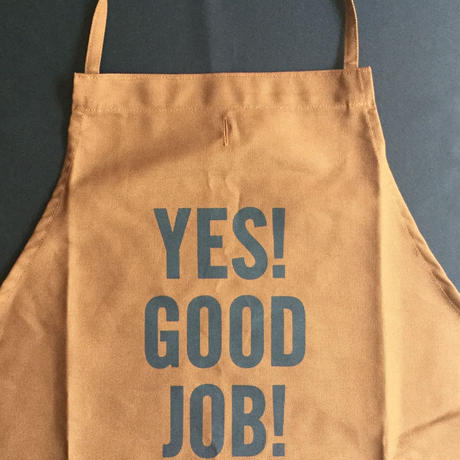 "⭕️ [限定発売] DRESSSEN DR(BRN) APRON  "" YES! GOOD JOB!""  BROWN  COLOR⭐️次回入荷未定です。"