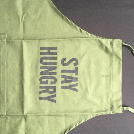 "DRESSSEN DR(GRN)10  ""STAY HUNGRY""APRON"
