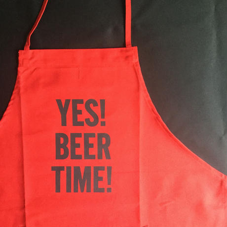 "DRESSSEN DR(RED) 13""YES! BEER TIME!"" APRON RED COLOR⭐️再入荷しました。"