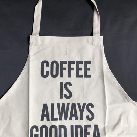 "⭕️[新型エプロン] DRESSSEN    DAY USE W POCKET  APRON   WPAN4""COFFEE IS ALWAYS GOOD   IDEA""※こちらの色はサンドベージュです"