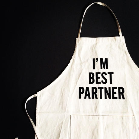 "DRESSSEN ADULT APRON #19"" I'M BEST PARTNER"""