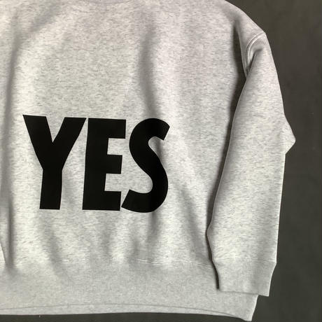 """DSS10 DRES""""SPECIAL""""SSEN  SWEAT  SHIRTS  YES (GREYCOLOR)   BLACKロゴ🟠次回入荷未定です。"""