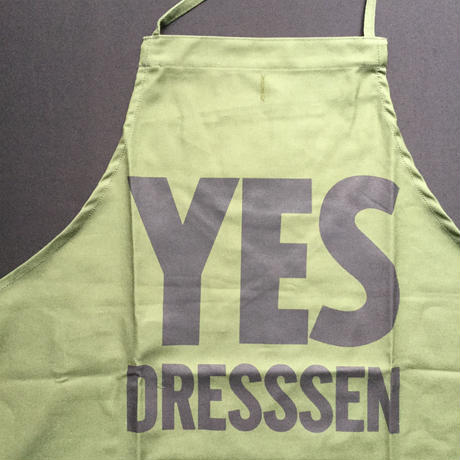 "『DRESSSEN 公式オンラインストア限定発売』 DRESSSEN DR(GRN)11  ""YES DRESSSEN    "" APRON  GREEN COLOR"