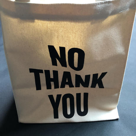 "DRESSSEN    MBAS6 MARKET BAG   (SMALL)   ""YES/NO THANK YOU※片面YESのプリント、片面NO THANK YOUのプリントです。"