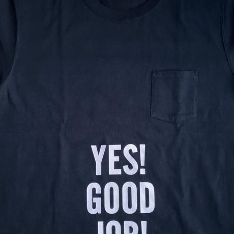 """🔴新発売 DRESSSEN  DSST111  DRES""""SPECIAL""""SSEN    YES! GOOD JOB! T-SHIRTS (生成りロゴ)BLACK COLOR"""
