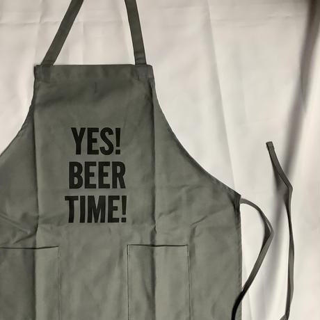 """[限定発売]DRESSSEN WPAGR1 DAY USE W POCKET  APRON   """"YES!BEER TIME!(GREY COLOR)"""