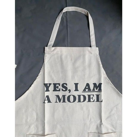 "DRESSSEN  WPA12  DAY USE W POCKET  APRON   ""YES  I  AM  A MODEL""  ""※正面に二つのポケットがございます"