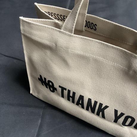 """🔴新発売 DRESSSEN  MBAXS2 MARKET  BAG [XーSMALL]""""YES/NO THANK YOU""""NOには➖線があります。 (サンドベージュカラー)"""