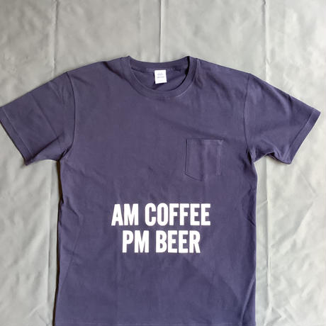 "⭐️限定販売 DRESSSEN  DSST66 DRES""SPECIAL""SSEN  ""AM  COFFEE  PM BEER"" T-SHIRTS (生成りロゴ)  ネイビーカラー"