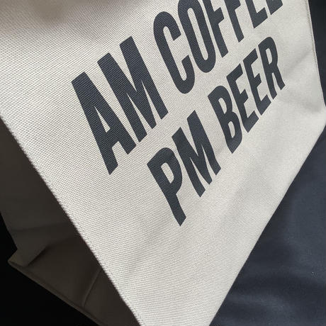"🟡限定発売! DRESSSEN MARKET BAG [◉LARGE]  MBSBL15  ""AM COFFEE PM BEER ""   (サンドベージュカラー)"