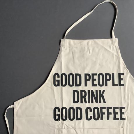 DRESSSEN ADULT APRON #91 GOOD PEOPLE DRINK GOOD COFFEE