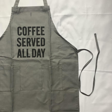 "[限定発売]DRESSSEN WPAGR6  DAY USE W POCKET  APRON   ""COFFEE SERVED ALL DAY"" (GREY COLOR)"