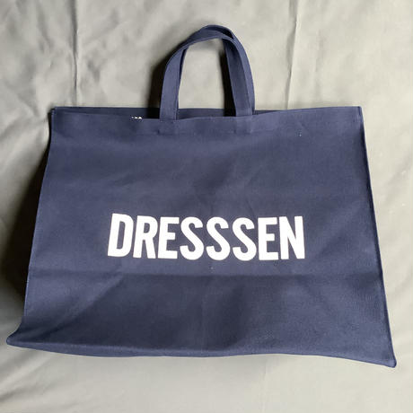 "DRESSSEN   MBXLN3 MARKET  BAG  XLARGE ""YES  GOOD  JOB/ DRESSSEN    (dark  navy color)🔴8/5再入荷します。"