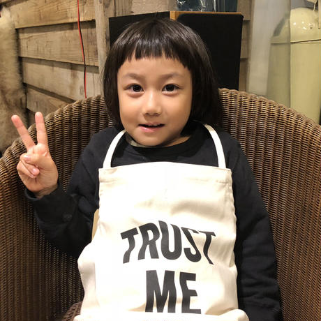 "⭕️新発売 DRESSSEN KD 22 KIDS APRON ""FAMOUS PEOPLE HERE""※キッズエプロンです"