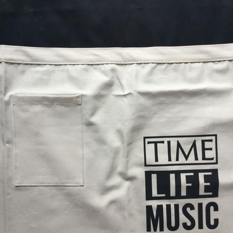 "DRESSSEN lower wall long  LWL7  ""TIME LIFE MUSIC""   (腰巻きエプロンです)"
