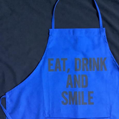 """🔴DRESSSEN DR(BLU)5 """"EAT, DRINK  AND SMILE"""" APRON   BLUE COLOR"""