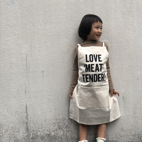 "DRESSSEN KD12 KIDS APRON  ""LOVE ""MEAT"" TENDER""(※キッズエプロンです)"
