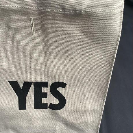 """DRESSSEN MBASBS11  MARKET BAG   (SMALL)   """"YES/NO THANK YOU※NOには➖線があります (サンドベージュカラー)"""