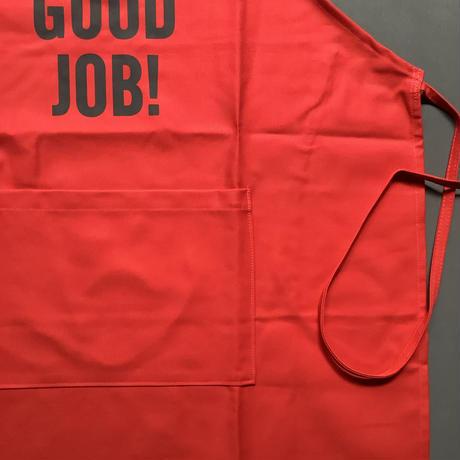 "DRESSSEN DR(RED)2 ""YES""! GOOD JOB!""APRON   RED COLOR"
