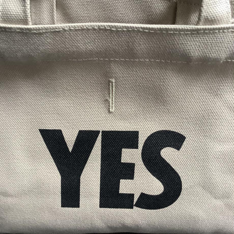 "DRESSSEN  MBAXS3 MARKET  BAG [XーSMALL]""YES/NO"" ※NOには➖線のあります。 (サンドベージュカラー)"