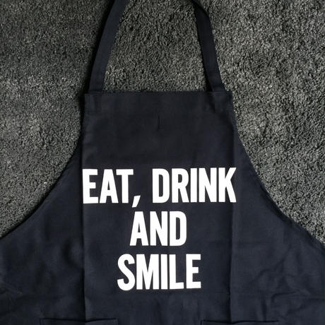 "]DRESSSEN WPADN3   DAY USE W POCKET  APRON   ""EAT,DRINK AND SMILE  DARK NAVY"