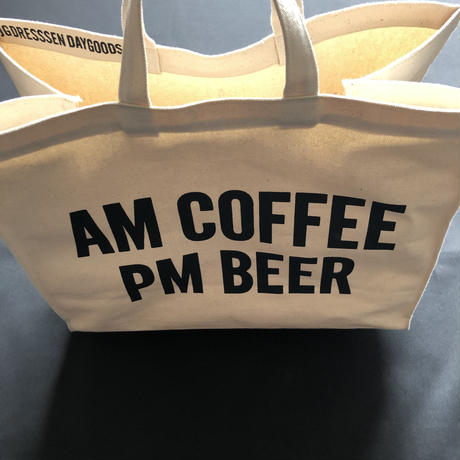 DRESSSEN  MARKET BAG (LARGE)  MBAL4  AM COFFEE PM BEER