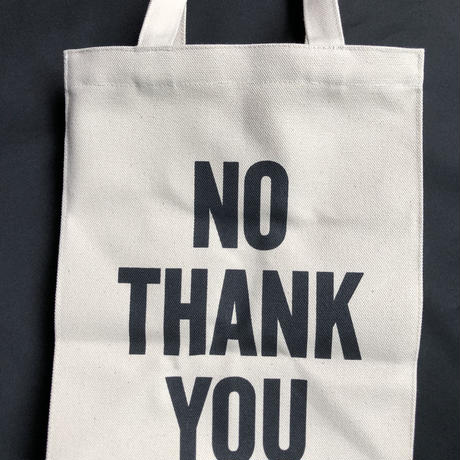"DRESSSEN    MBAS6 MARKET BAG   (SMALL)   ""YES/NO THANK YOU※片面YES、片面NO THANK YOUのプリント"