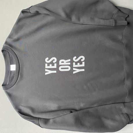 """[オンラインストア限定発売]DSS7 SWEAT  SHIRTS """" YES  OR YES """"(BLACK COLOR)   GREYロゴ"""