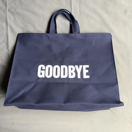 "DRESSSEN  MBXLN2  MARKET  BAG  XLARGE ""HELLO/GOODBYE""(dark  navy  color)"
