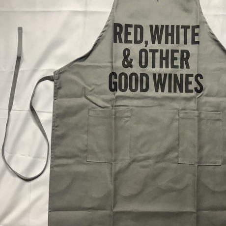 "[限定発売]DRESSSEN WPAGR7 DAY USE W POCKET  APRON   ""RED,WHITE OTHER GOOD WINE (GREY COLOR)"