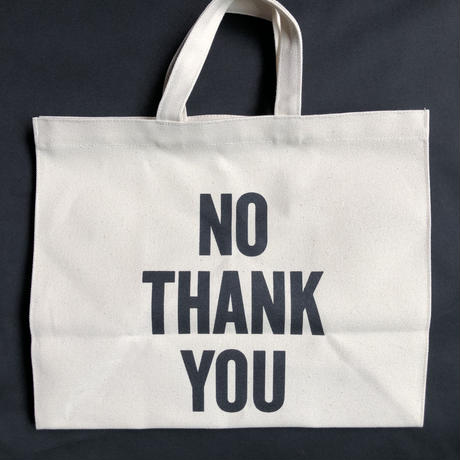 "DRESSSEN  MARKET BAG (LARGE)  MBAL10  ""YES/NO THANK YOU※片面YESのプリント、片面NO THANK YOUのプリントです。"