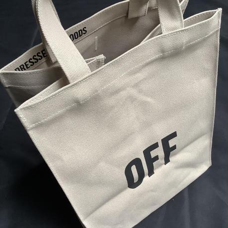 """🔴新発売DRESSSEN  MBASBS12 MARKET BAG   (SMALL)   """"ON/OFF""""(サンドベージュカラー)"""