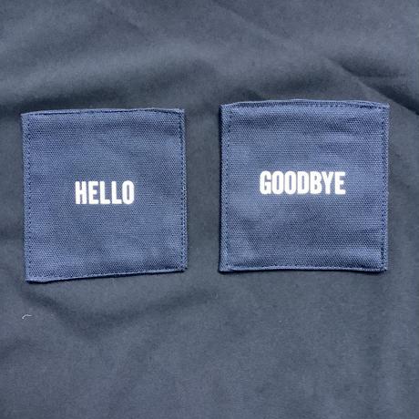"DRESSSEN   COAN3 REVERSIBLE COASTER ""HELLO/GOODBYE (DARK NAVY COLOR)"