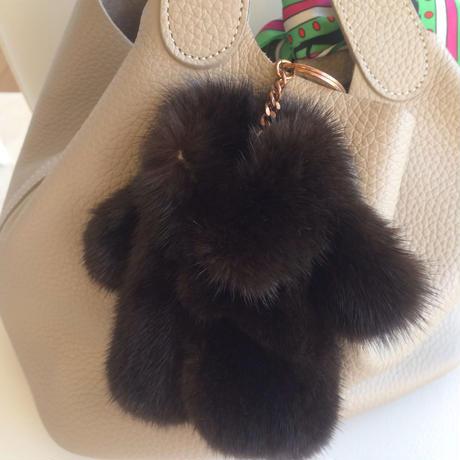 【SALE】ミンク毛皮コート型♡キーケース