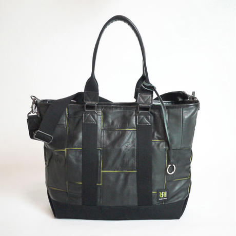 3Way Tote / Limited Tras Leather Edition (Black×OD)
