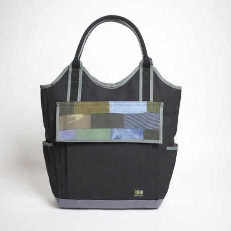 Vertical Tote / Black×Cool Grey