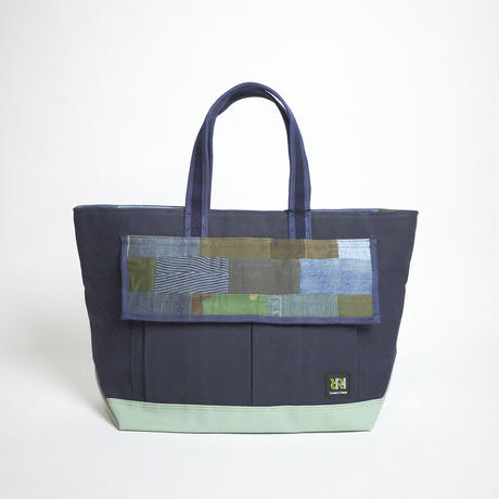 Basic Tote / Navy×Smoky Celadon