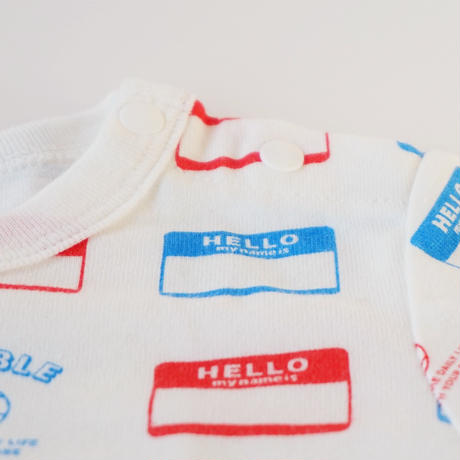 "DRIBBLE ""HELLO MY NAME IS"" ロングスリーブTシャツ / MULTI"